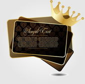 Royal vector background with crown — Stock Vector