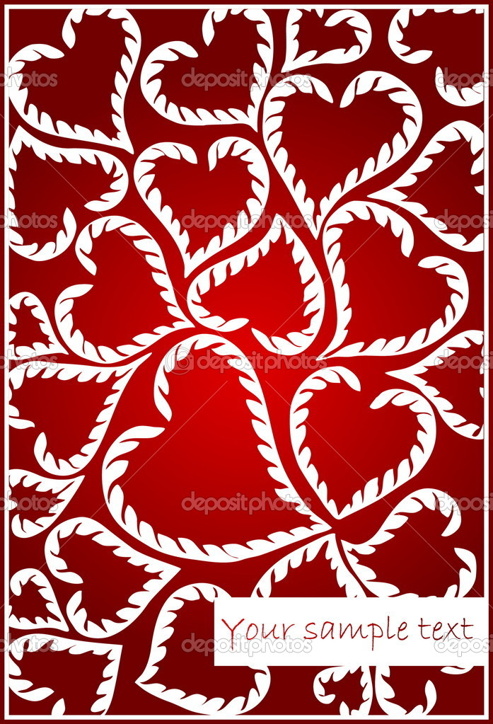 Background with heart  Stock Vector #9174856