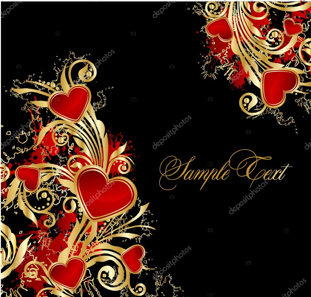 Background with hearts — Imagen vectorial #9175244