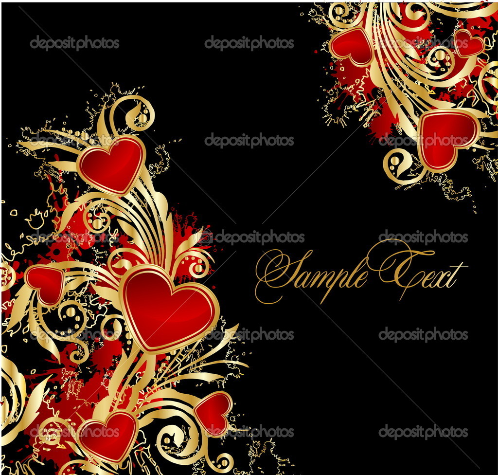 Background with hearts  Imagen vectorial #9175244