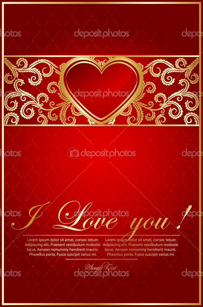 Cards templates with  heart — Stock Vector #9175453