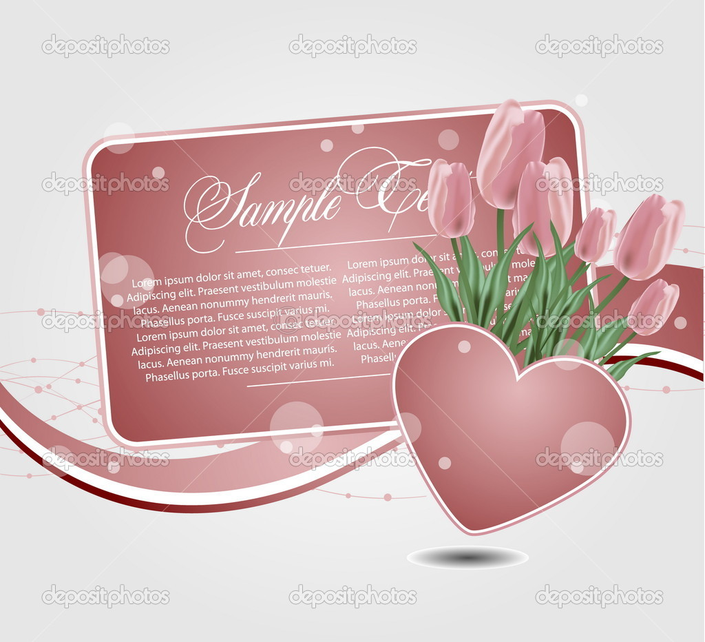 Background with hearts  Stock Vector #9175611