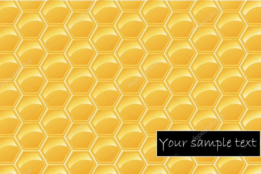 Honeycomb. Seamless vector illustration  Stock Vector #9175881