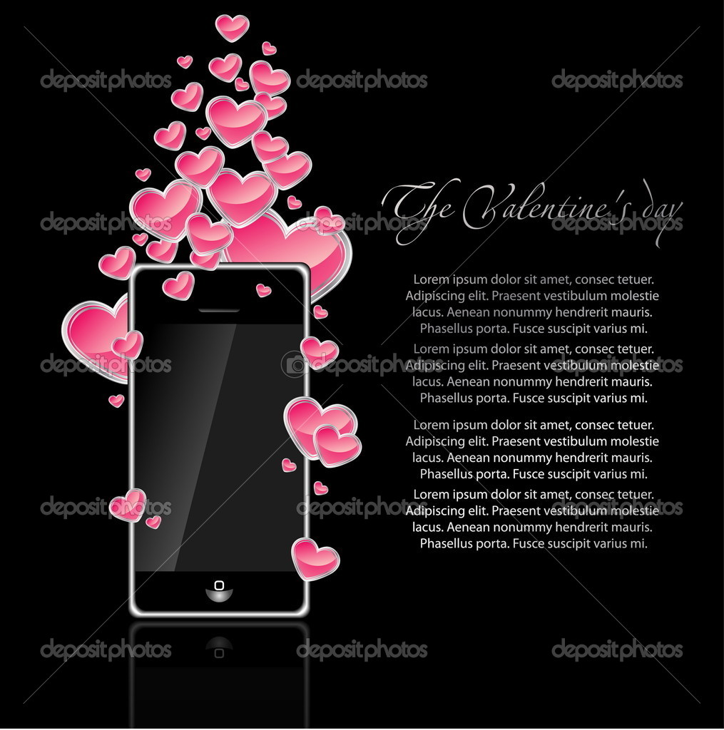 Floral valentine card with red heart — Stock Vector #9176022