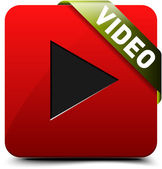 Watch Video button — Vettoriale Stock