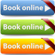 Book now button - Stok Vektör