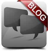 Blog button — Stock Vector