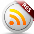 Stock Photo: RSS button