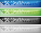 Web banners set — Stock Vector