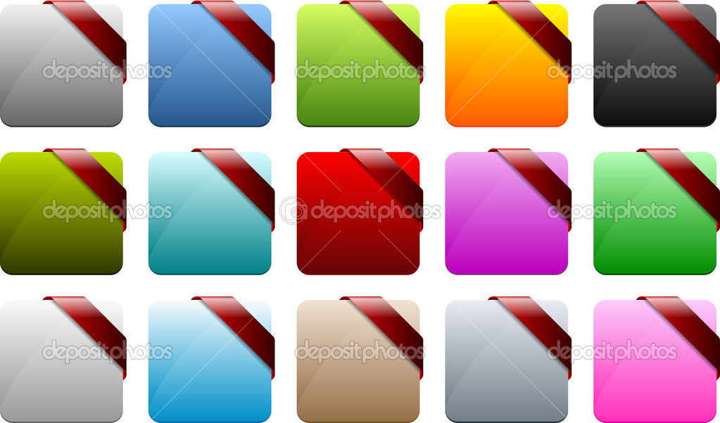 Web buttons — Stock Vector #9445911