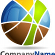 Stock Photo: Abstract 3D Sphere Business Logo