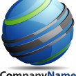 Abstract 3D Sphere Business Logo — Stock Photo
