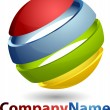 Abstract 3D Sphere Business Logo - Stock Photo