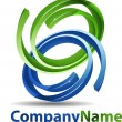Abstract 3D Sphere Business Logo — Stock Photo #9669101