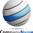 Abstract 3D Sphere Business Logo — Stock Photo #9669117