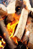 Burning wood — Stockfoto