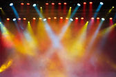 Lights in a concert stage — Stock Photo