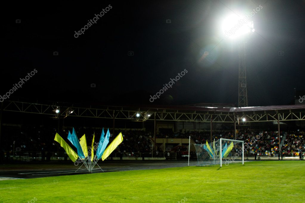Stadium on the night  Stock fotografie #10676628