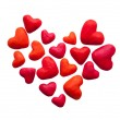 Plasticine heart from many little hearts — Stock Photo
