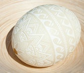 Traditional Easter egg with hand drawing ornament — Foto Stock