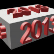 Royalty-Free Stock Photo: 3d rendered year 2013