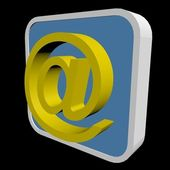3D email icon — Stock Photo