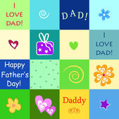 Happy father — Stock Vector