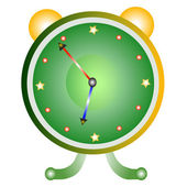 Classic alarm clock over white background — 图库矢量图片