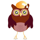 Cartoon Owl (vector version) — Stock Vector