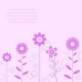 Pink flower background for art projects, pamphlets, brochures or cards — Stock Vector