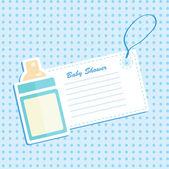 Baby bottle shower. Invitation card . — Stock Vector