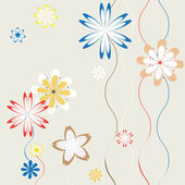 Spring flowers background for art projects, pamphlets, brochures — Stock Vector