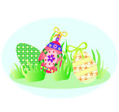 Sfondo vettoriale con le uova di Pasqua vacanza — Vettoriale Stock