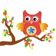 Little sweet owl message — Stock Vector #9695628