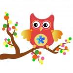 Little sweet owl message — Stock Vector