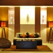 Modern lobby interior in night illumination, Phuket, Thailand — Stock Photo