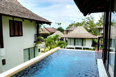 Swimming pool at the luxury villa, Phuket, Thailand — Stockfoto