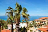 The luxury hotel recreation area, Halkidiki, Greece — Stock Photo