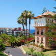 View on the villa at luxury hotel, Tenerife island, Spain — Stok fotoğraf
