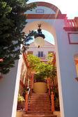 Entrance to the luxury villa, Tenerife island, Spain — Stock Photo
