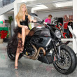 "Stock Photo: KIEV - SEPTEMBER 11: Ducati Diavel at Yearly automotive-show ""Ca"