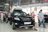 "KIEV - SEPTEMBER 11: Toyota RAV4 at Yearly automotive-show ""Cap — Stock Photo"