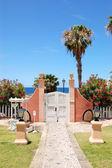 Way and door to the beach at luxury hotel, Tenerife island, Spai — Stock Photo