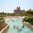DUBAI, UAE - AUGUST 28: The Aquaventure waterpark of Atlantis th — Stock Photo