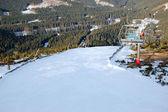 Ski slope and cable lift, Jasna, Slovakia — Stock Photo