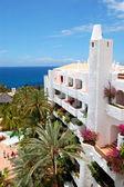 L'hotel di stile orientale di lusso con vista mare, isola di tenerife, — Foto Stock