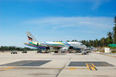 SAMUI, THAILAND - SEPTEMBER 9: The aircraft of Bangkok Airlines — Stock Photo