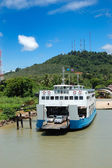 TRAT, THAILAND - SEPTEMBER 5: The Koh Chang ferry pier and ferry — Stock Photo