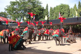 PATTAYA, THAILAND - SEPTEMBER 7: The famous elephant show in Non — Stock Photo