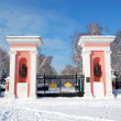 Постер, плакат: Entrance in Oleksandriya Park with memorials of Ukrainian writer